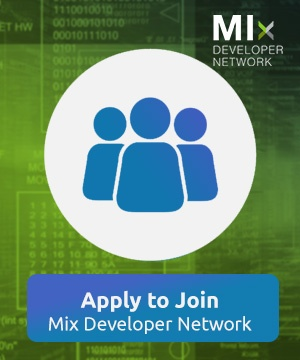Apply to join the MIx Developer Network (MDN)