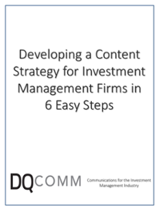 Developing a Content Strategy for Investment Managers in 6 Easy Steps