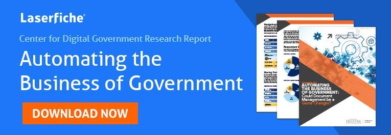 center for digital government report automating the business of government