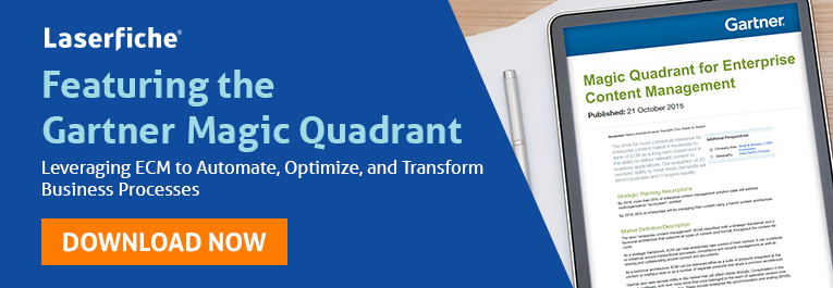 Gartner Magic Quadrant for ECM