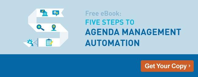 Five Steps to Agenda Management Automation