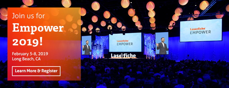 Register for Laserfiche Empower 2019 conference