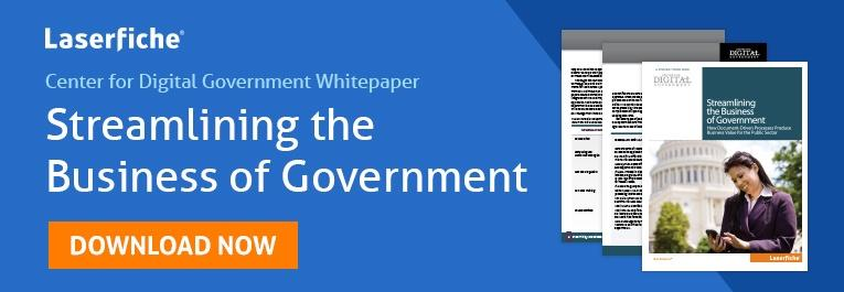 Center for Digital Government Whitepaper Streamlining the Business of Government