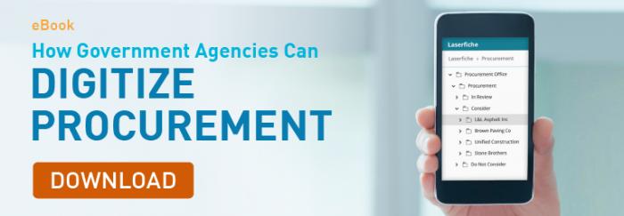 How Government  Agencies Can Digitize Procurement