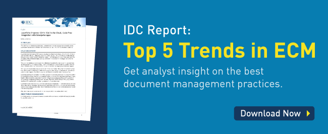 IDC Report Top 5 trends in ECM