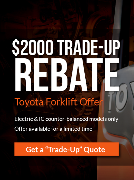 Toyota Forklift Trade-In Rebate