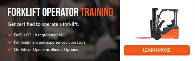 Forklift Certification in California