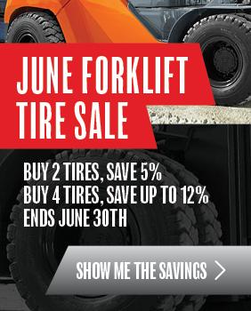 June Forklift Tire Sale - CTA Sidebar