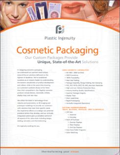 Cosmetic Packaging Capabilities Sheet