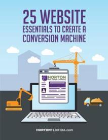 25 Website Essentials to Create a Conversion Machine Ebook