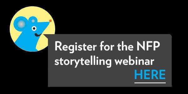 Register for the NFP storytelling webinar