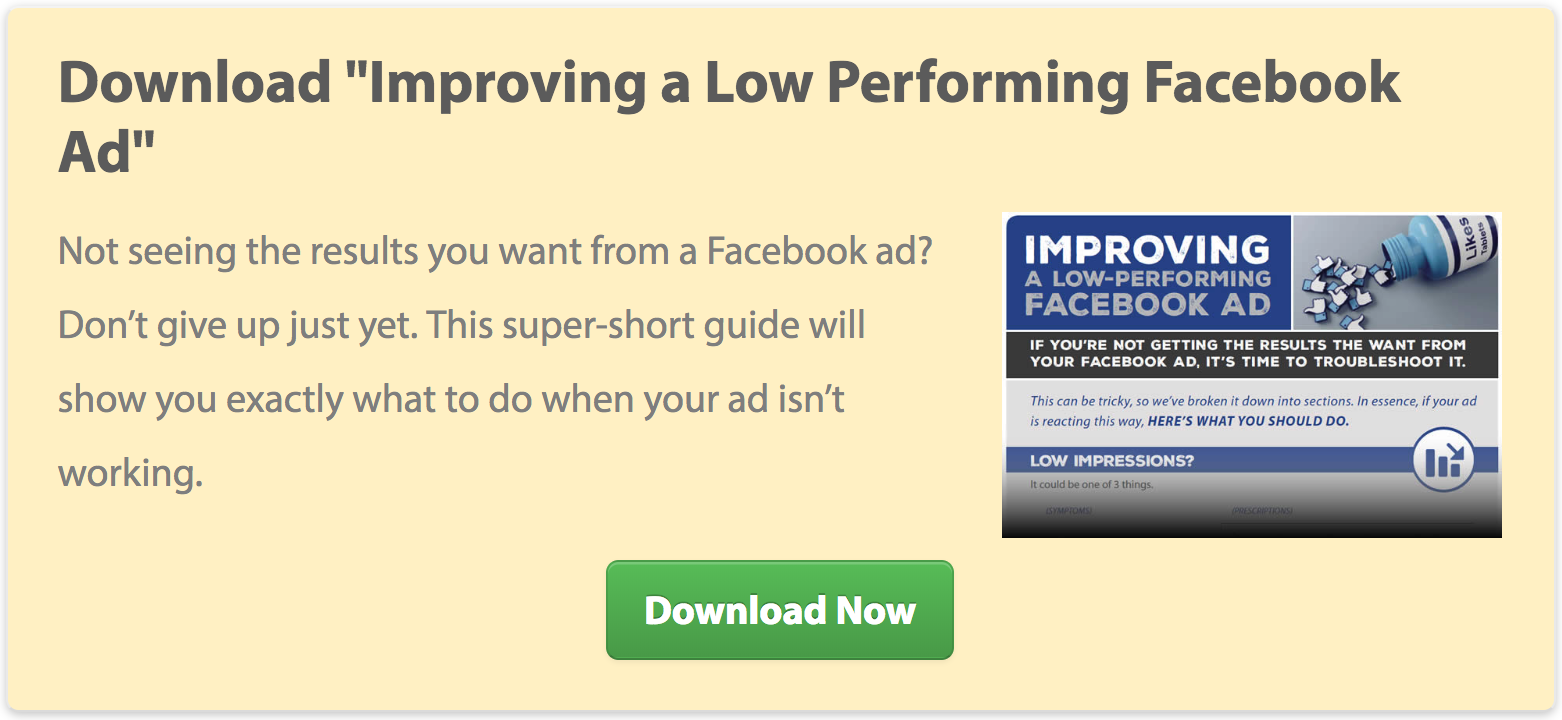 "Download ""Improving a Low Performing Facebook Ad"""