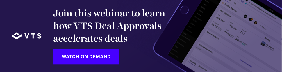 Join this webinar to learn how VTS Deal Approvals accelerates deals