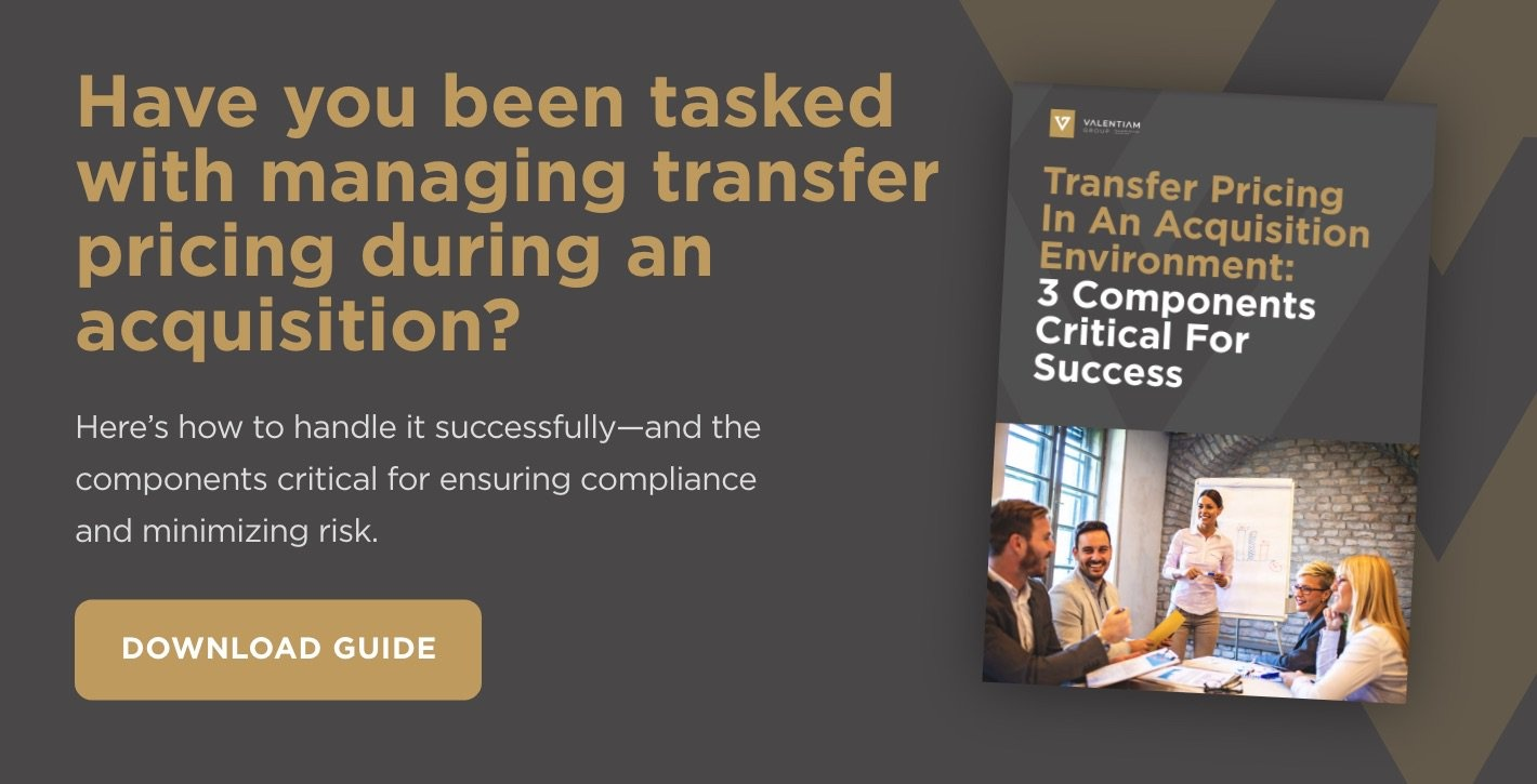 Download Now: Transfer Pricing In An Acquisition Environment: 3 Components Critical For Success