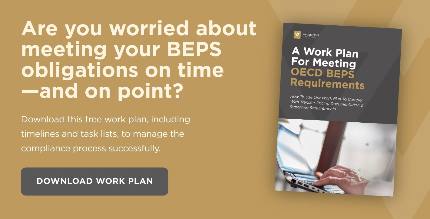 Download Now: A Work Plan For Meeting OECD BEPS Requirements