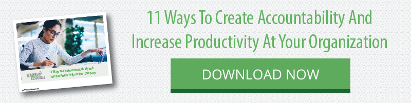 11 Ways To Create Accountability And Increase Productivity At Your Organization. Download this whitepaper.