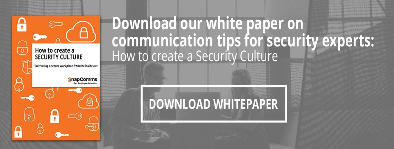 create a security culture whitepaper