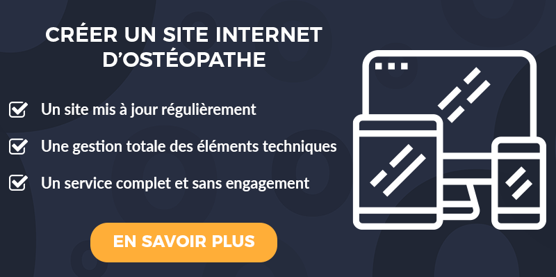 CTA Créer site internet ostéopathe