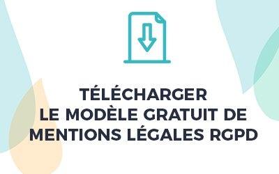 telechargement modele gratuit mentions legales rgpd