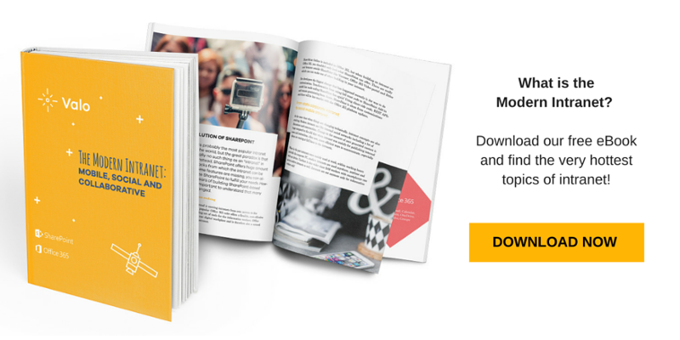 Download the free eBook of Modern Intranet