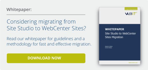 Whitepaper. Migration to WebCenter Sites