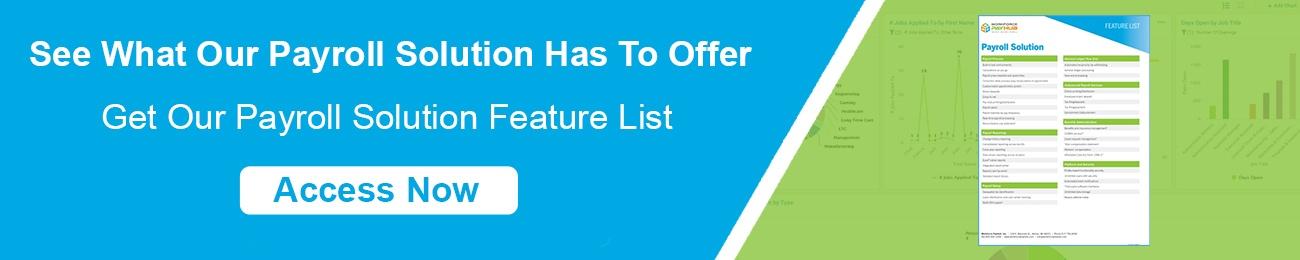 Payroll Feature List CTA Horizontal