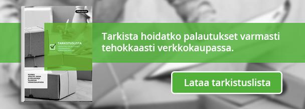 Lataa tarkistuslista: Hoidatko palautukset tehokkaasti verkkokaupassa