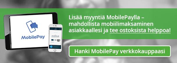 Hanki MobilePay verkkokauppaasi