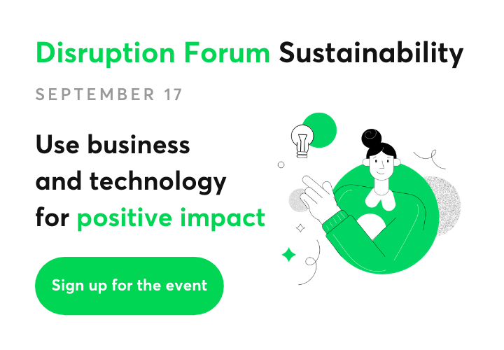 Sign up for the Disruption Forum Sustainability