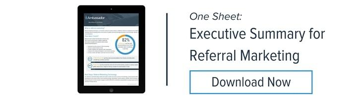 Executive Summary for Referral Marketing