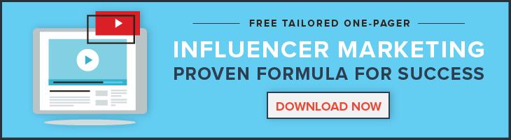 Influencer Marketing Formula for Success CTA