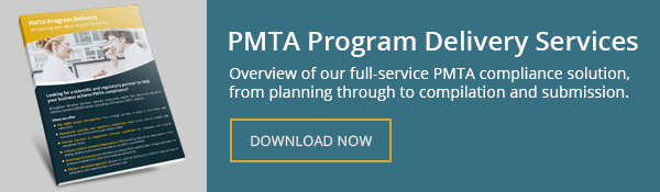 pmta program delivery services call-to-action