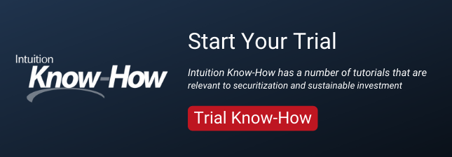 Intuition Know-How has a number of tutorials that are relevant to securitization and sustainable investment