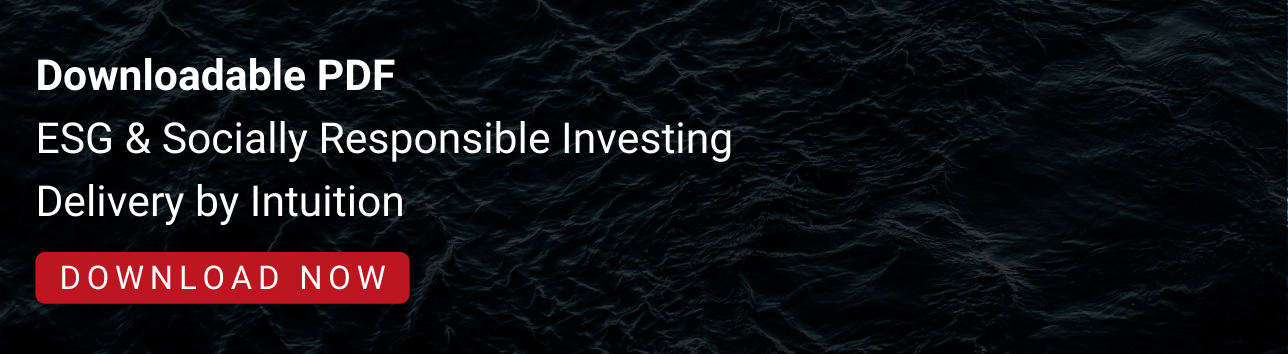 ESG & Socially Responsible Investing