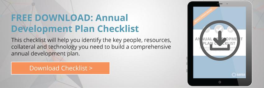 Annual Development Plan Checklist