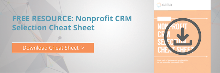 Nonprofit CRM Selection Cheat Sheet