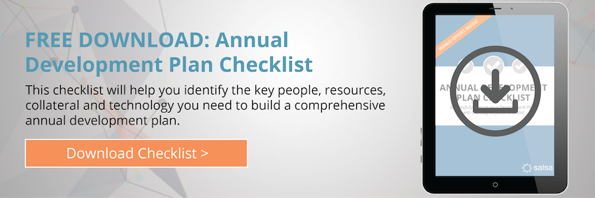 Annual Development Plan Checklist