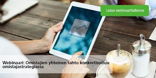 Lataa webinaaritallenne: Omistajien yhteinen tahto konkretisoituu omistajastrategiassa
