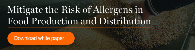 Mitigate the risk of allergens in food production and distribution