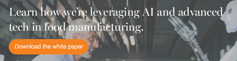 businessman leveraging AI technology in the food manufacturing
