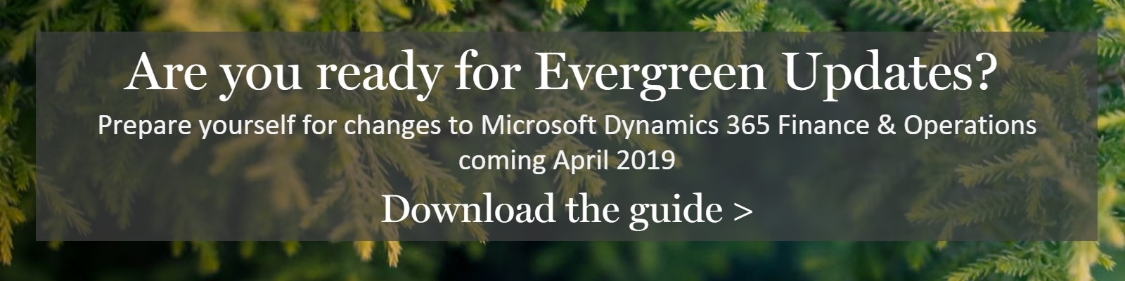 evergreen updates for microsoft dynamics