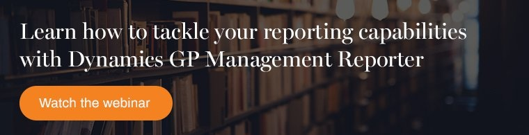 learn how to manage reporting capabilities in dynamics gp management reporter