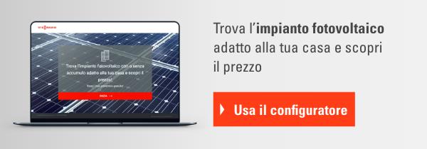 Trova l'impianto fotovoltaico adatto per la tua casa e scopri il prezzo