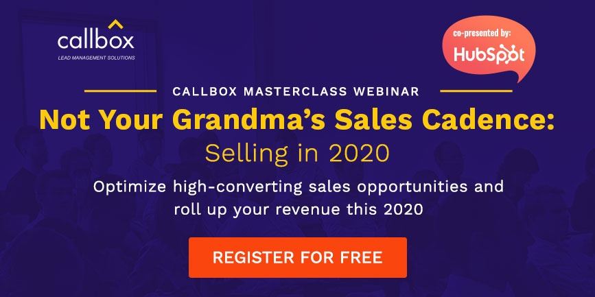 Join our FREE Masterclass on how to sell in 2020