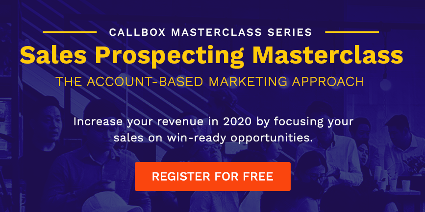 Join our FREE Sales Prospecting Masterclass