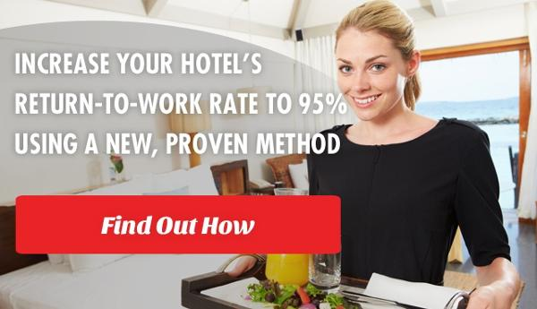 Housekeeper in a hotel who is happy about her return-to-work rates