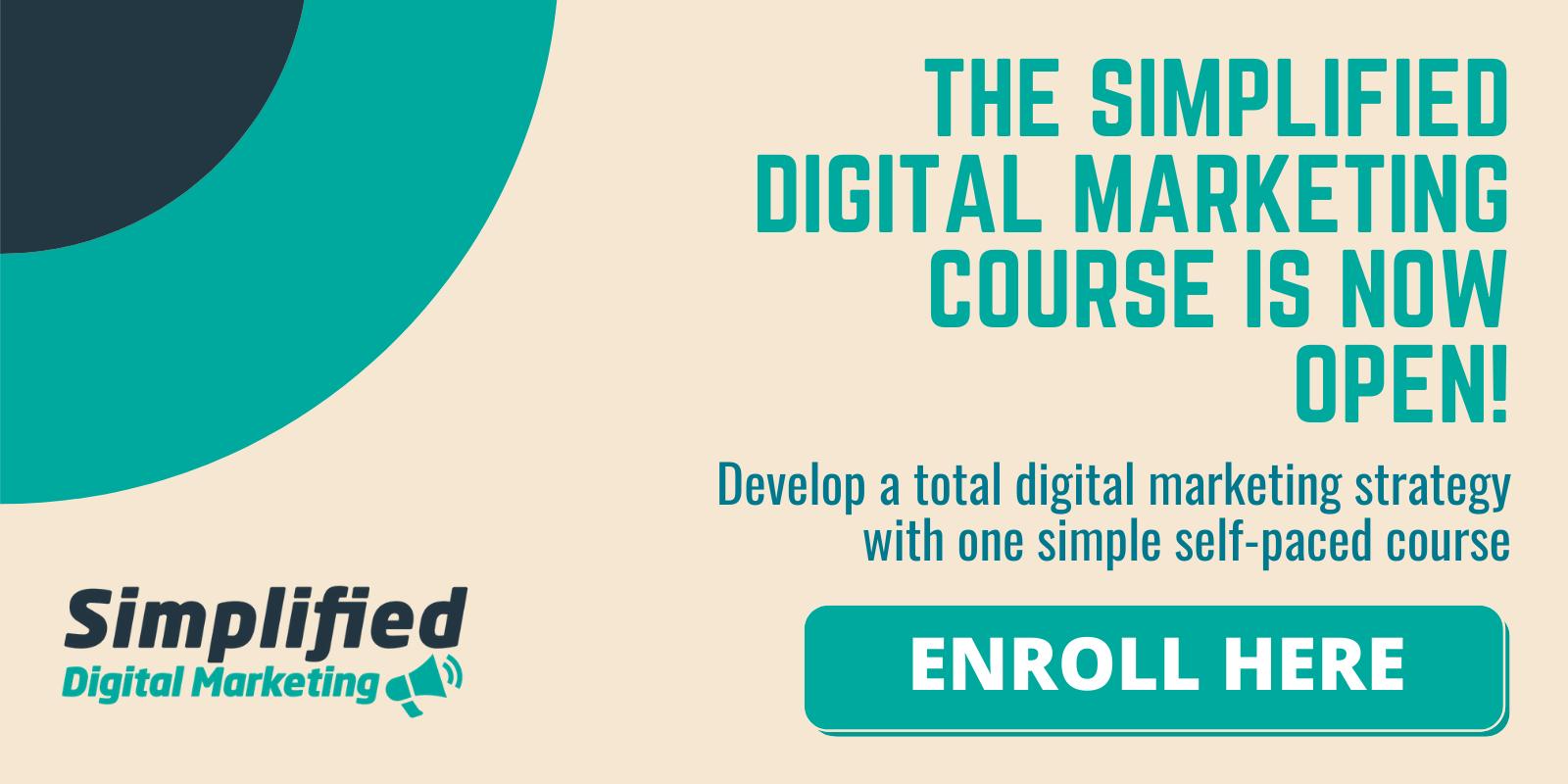 simplified digital marketing course enroll here
