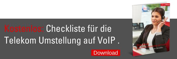 Checkliste Telekom Umstellung auf VoIP