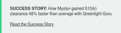 SUCCESS STORY: How Myolyn gained 510(k) clearance 48% faster than average with  Greenlight Guru  Read the Success Story