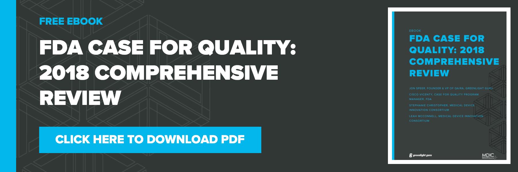 FDA Case for Quality program overview PDF download